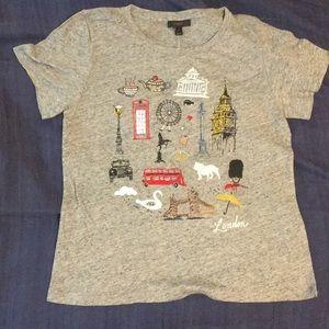 J. CREW London T-shirt. Size M